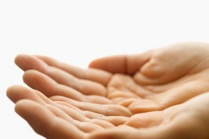 Open Hands --- Image by © Royalty-Free/Corbis