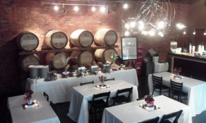 The Barrel Room set for Dinner for 35