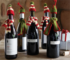 wine bottle christmas decorations 2 - Christmas Bottle Decorations