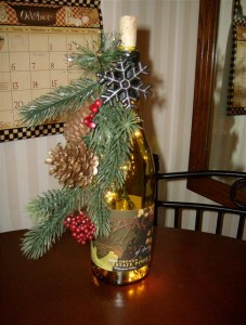 Wine Bottle Christmas Decorations 3