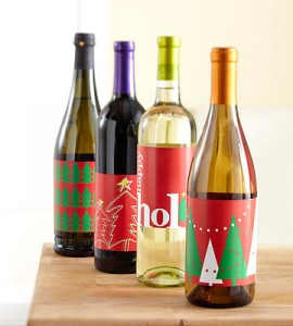 Wine Bottle Christmas Labels