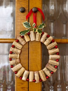 Wine cork christmas wreath 2