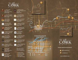 spokane wine cork district map