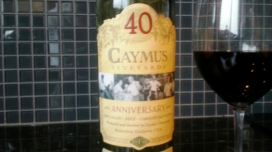Caymus Cabernet 40th Anniversary 2012-2
